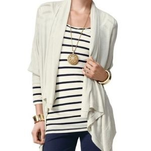 CAbi 721 Moondust Drape Waterfall Cardigan